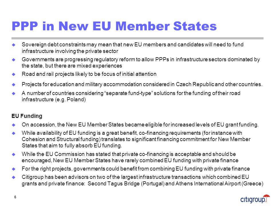 PPP in New EU Member States
