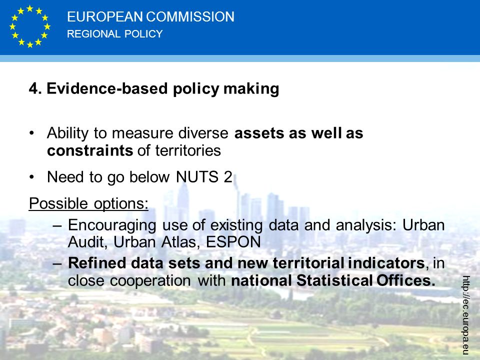 4. Evidence-based policy making