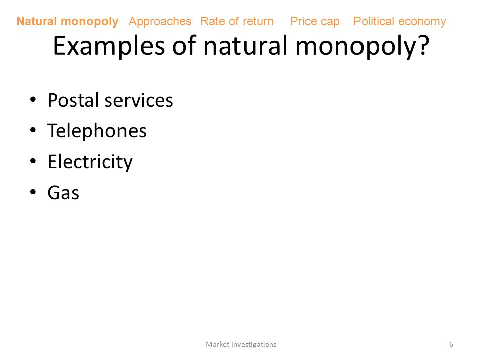 natural monopoly examples
