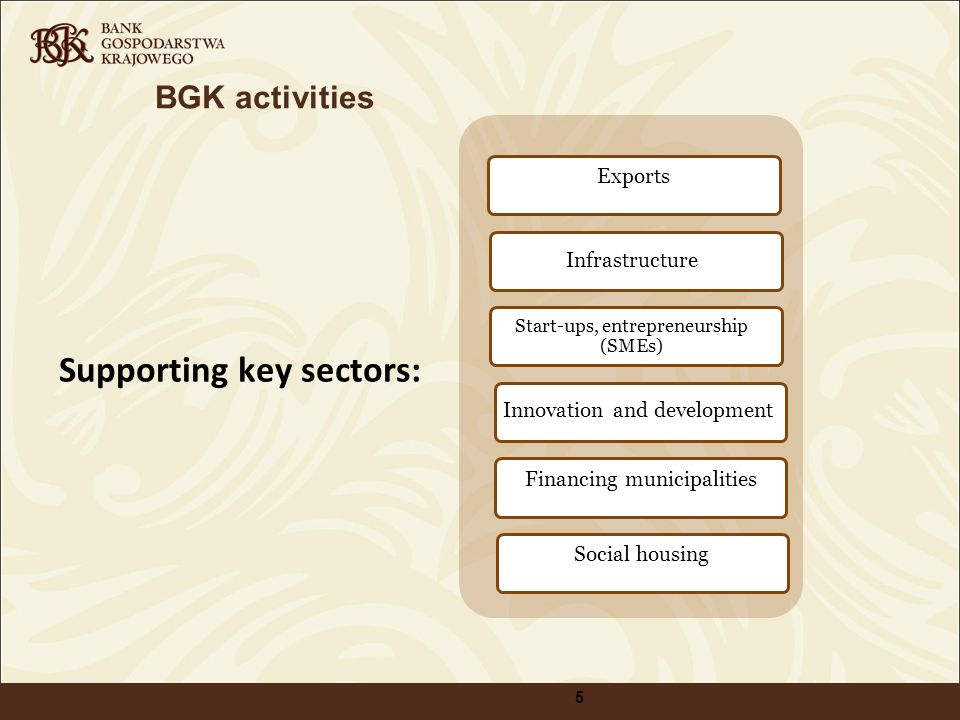 Supporting key sectors: