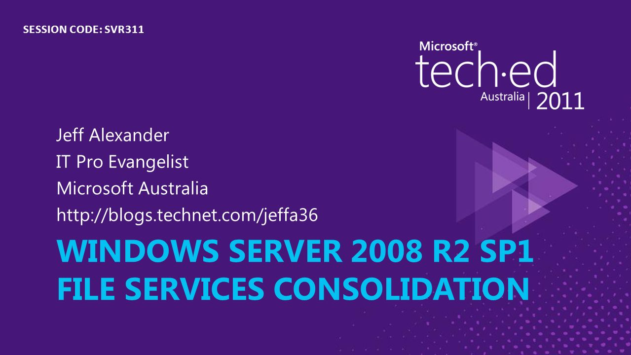 Windows server 2008 r2 sp1 File services Consolidation - ppt