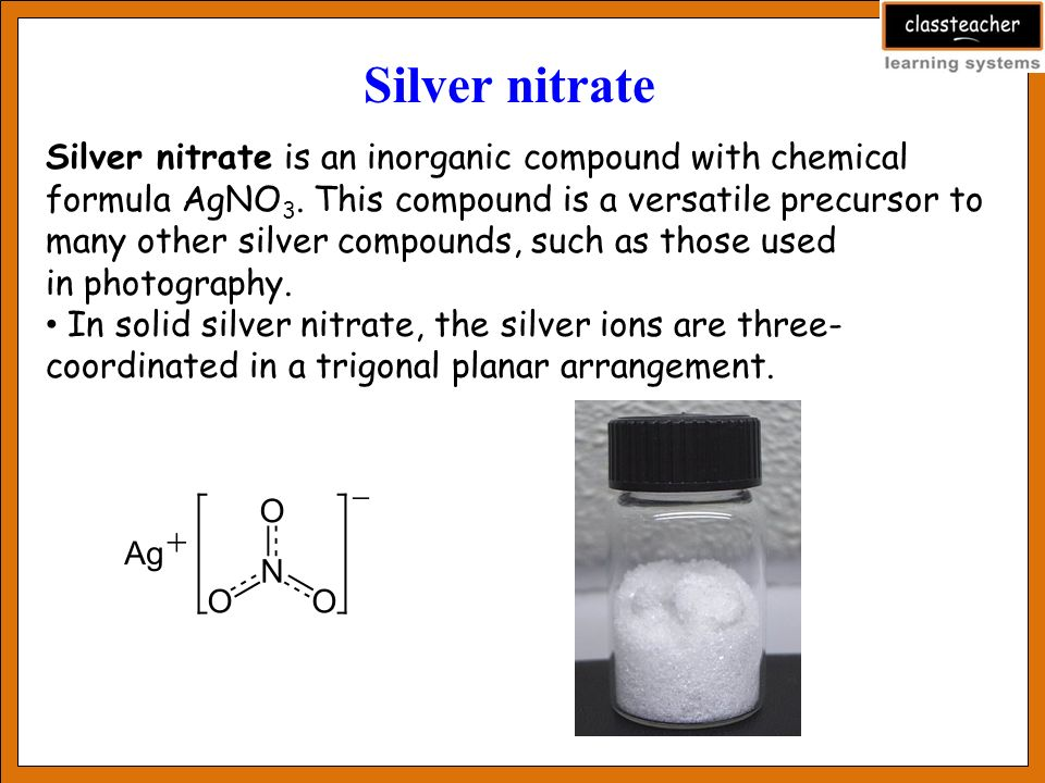 Preparation Of Silver Nitrate And Its Uses Ppt Download