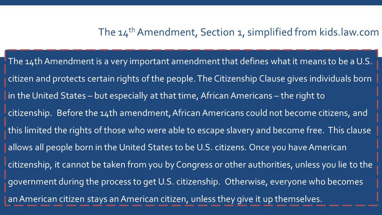 14th Amendment Simplified
