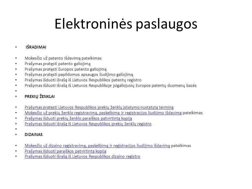 Prekybos sistemos duomenų bazė