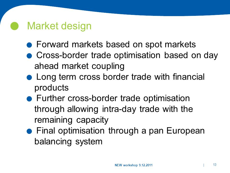 Market design Forward markets based on spot markets
