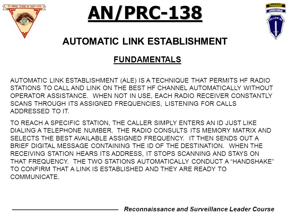AN/PRC-138 TRAINING OUTLINE - ppt download