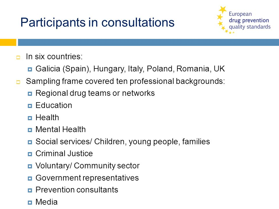 Participants in consultations