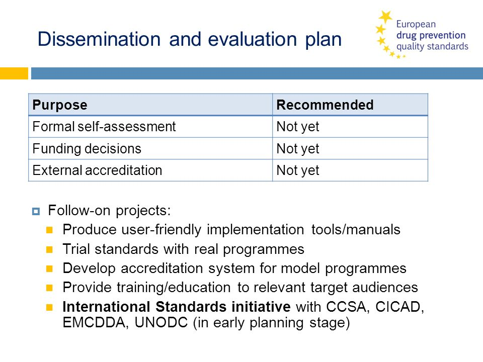 Dissemination and evaluation plan