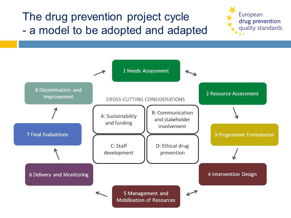 The drug prevention project cycle - a model to be adopted and adapted