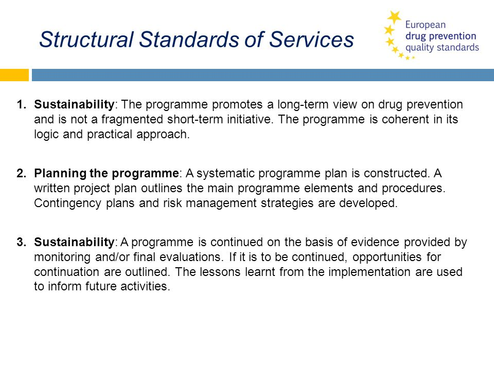 Structural Standards of Services