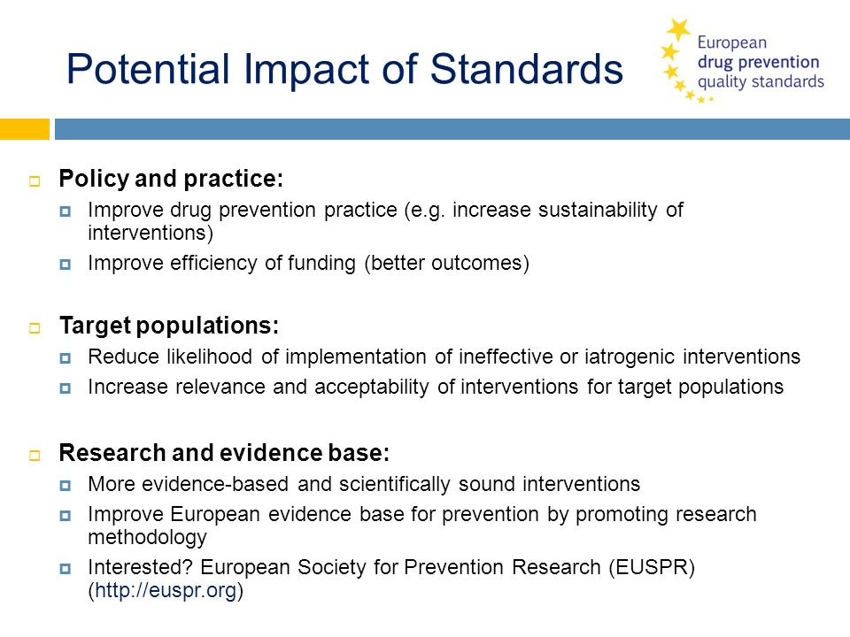 Potential Impact of Standards