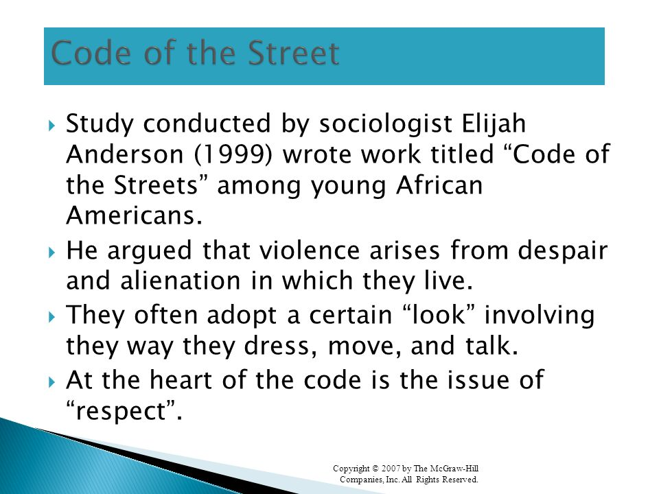anderson 1999 code of the street