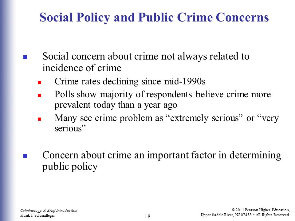 Social Policy and Public Crime Concerns
