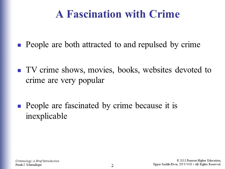 A Fascination with Crime