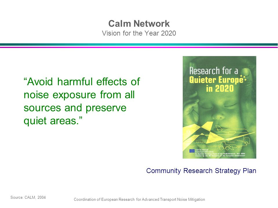 Calm Network Vision for the Year 2020