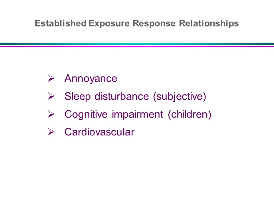 Established Exposure Response Relationships
