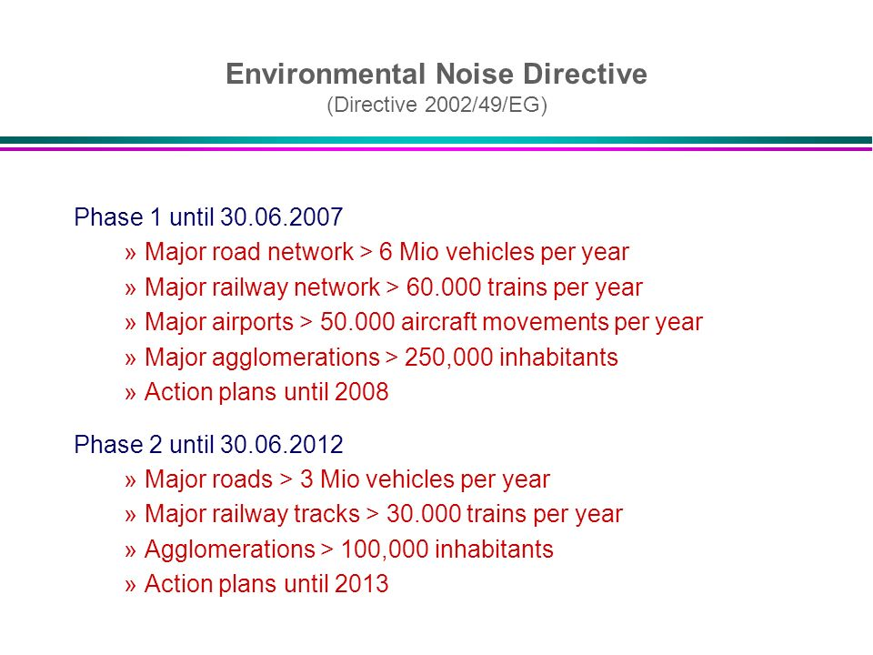 Environmental Noise Directive (Directive 2002/49/EG)