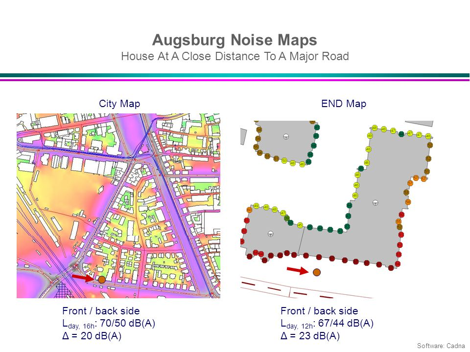 Augsburg Noise Maps House At A Close Distance To A Major Road