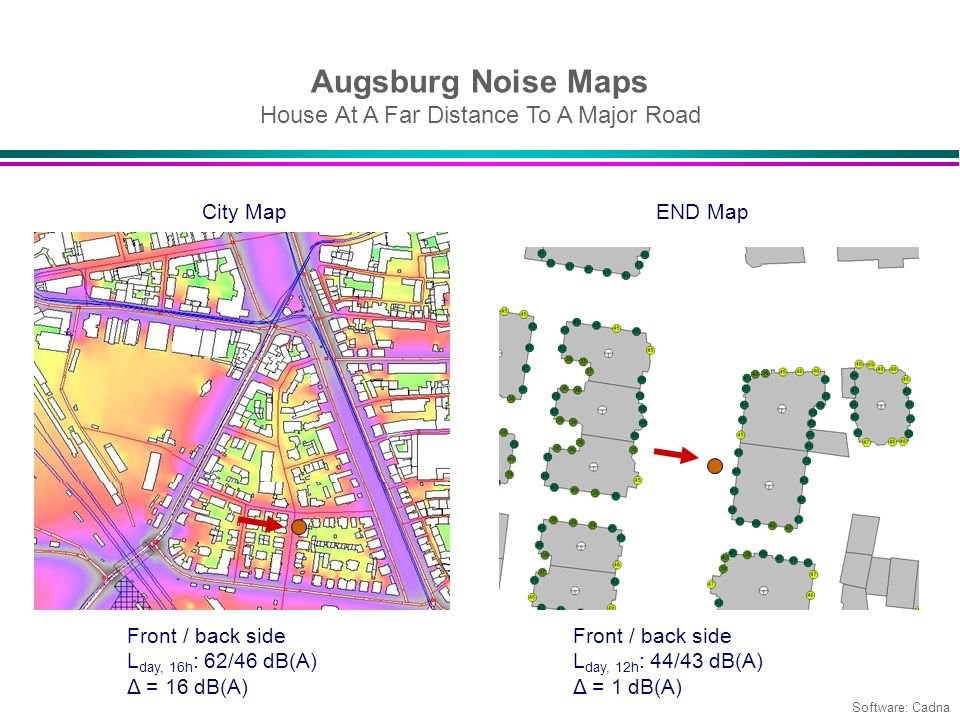 Augsburg Noise Maps House At A Far Distance To A Major Road