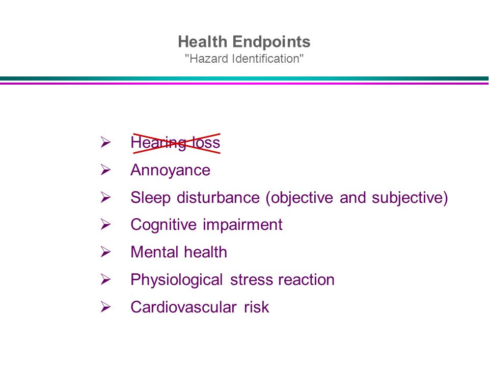 Health Endpoints Hazard Identification