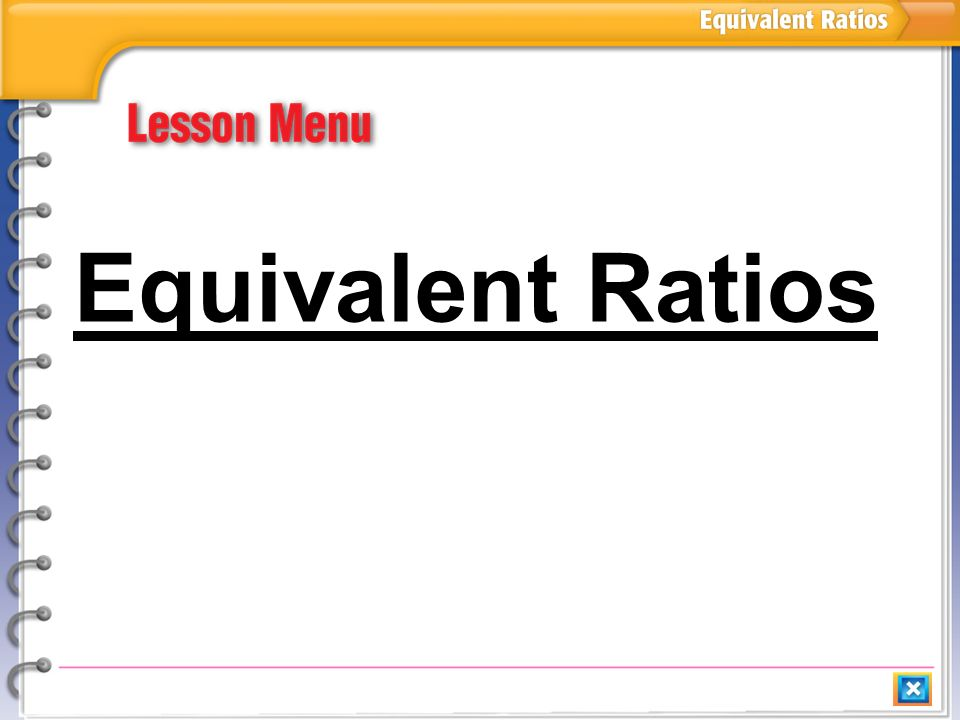 how to find equivalent ratios video