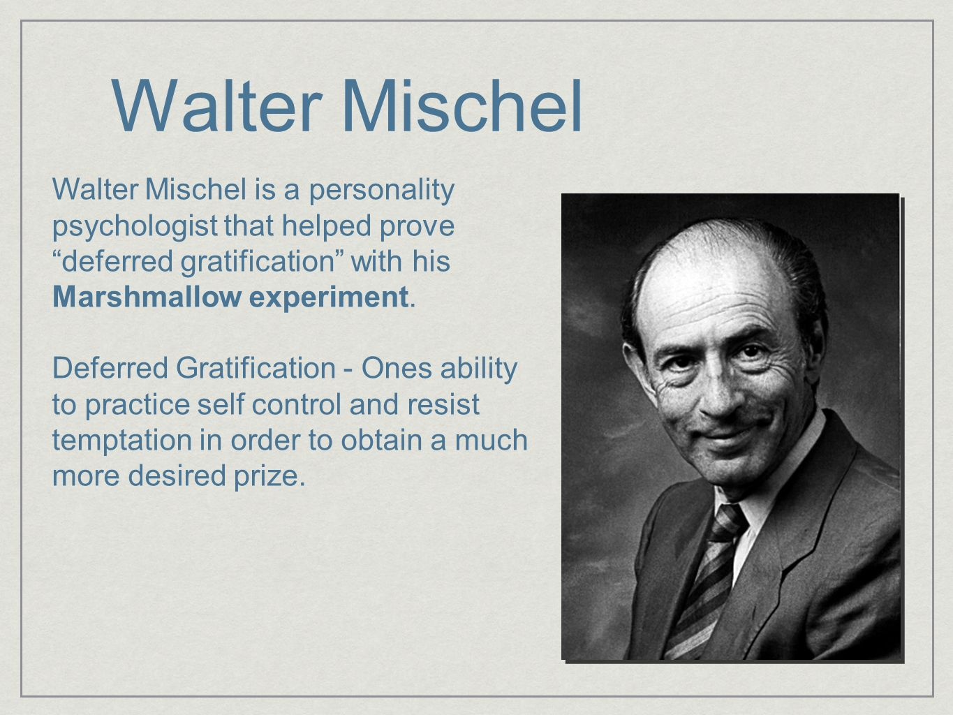Image result for walter mischel
