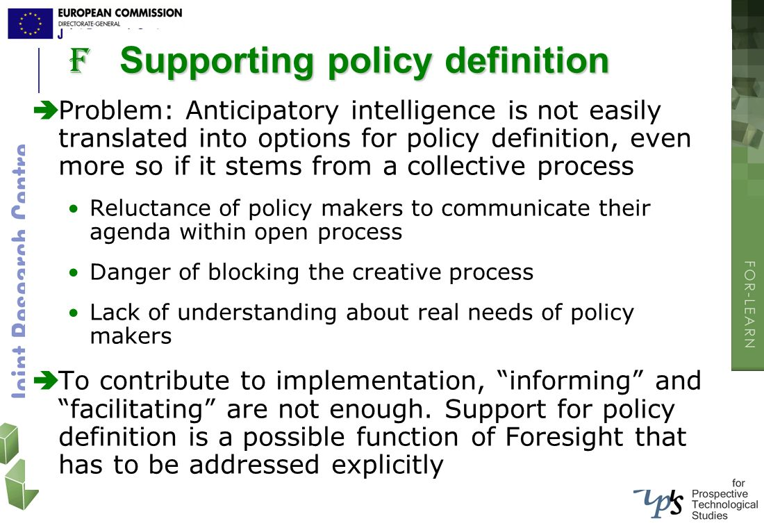 Supporting policy definition