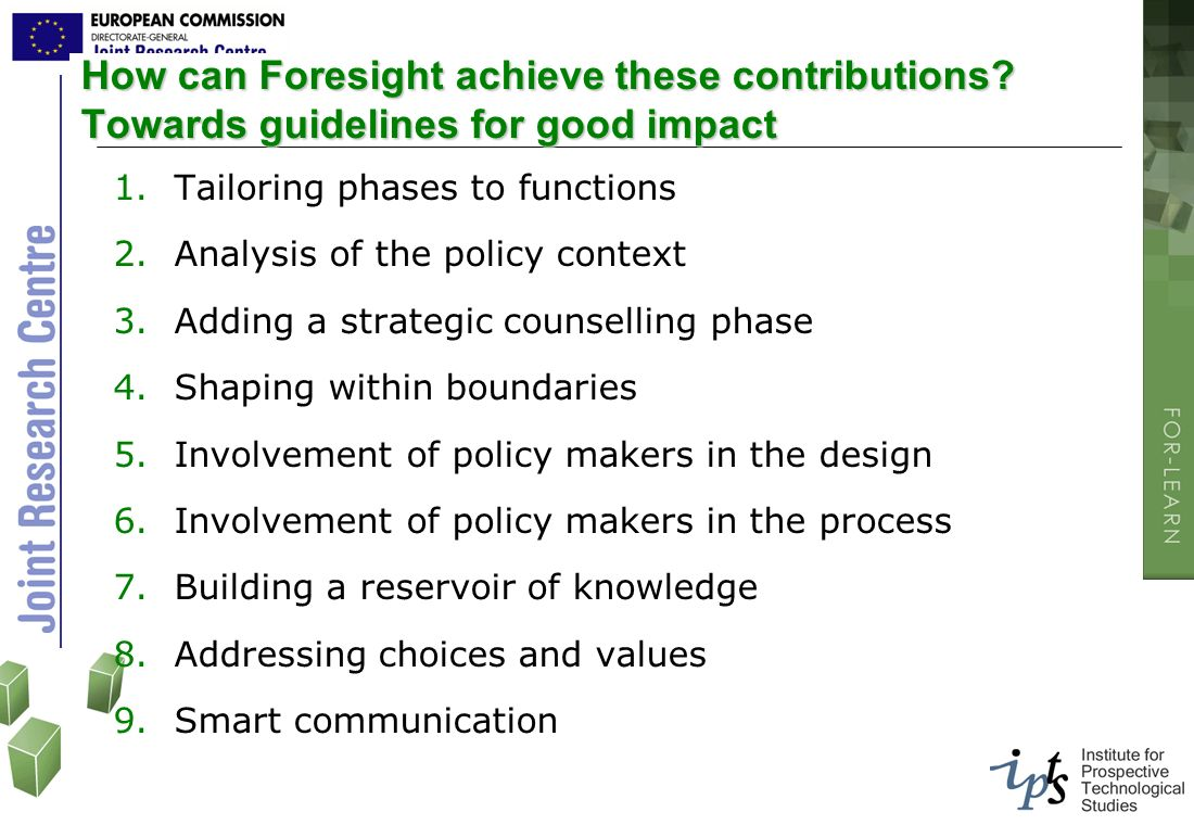 How can Foresight achieve these contributions