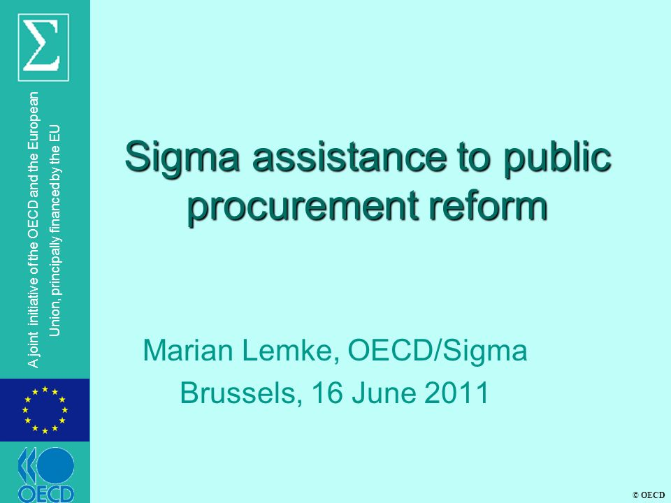 Sigma assistance to public procurement reform