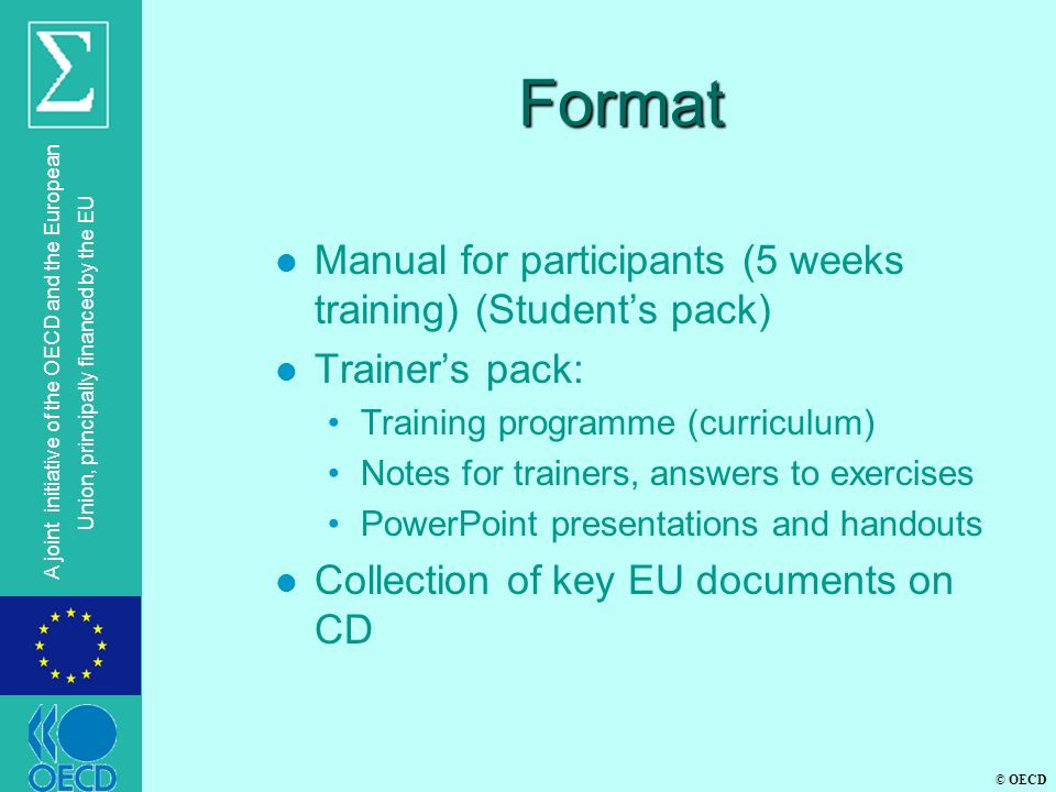 Format Manual for participants (5 weeks training) (Student's pack)
