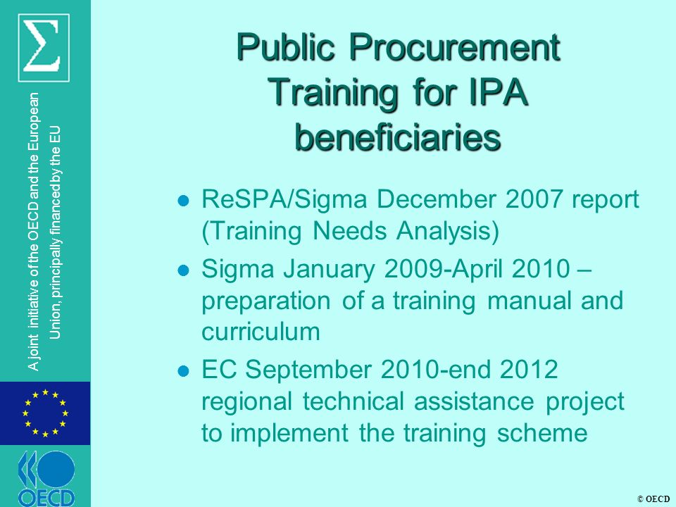 Public Procurement Training for IPA beneficiaries