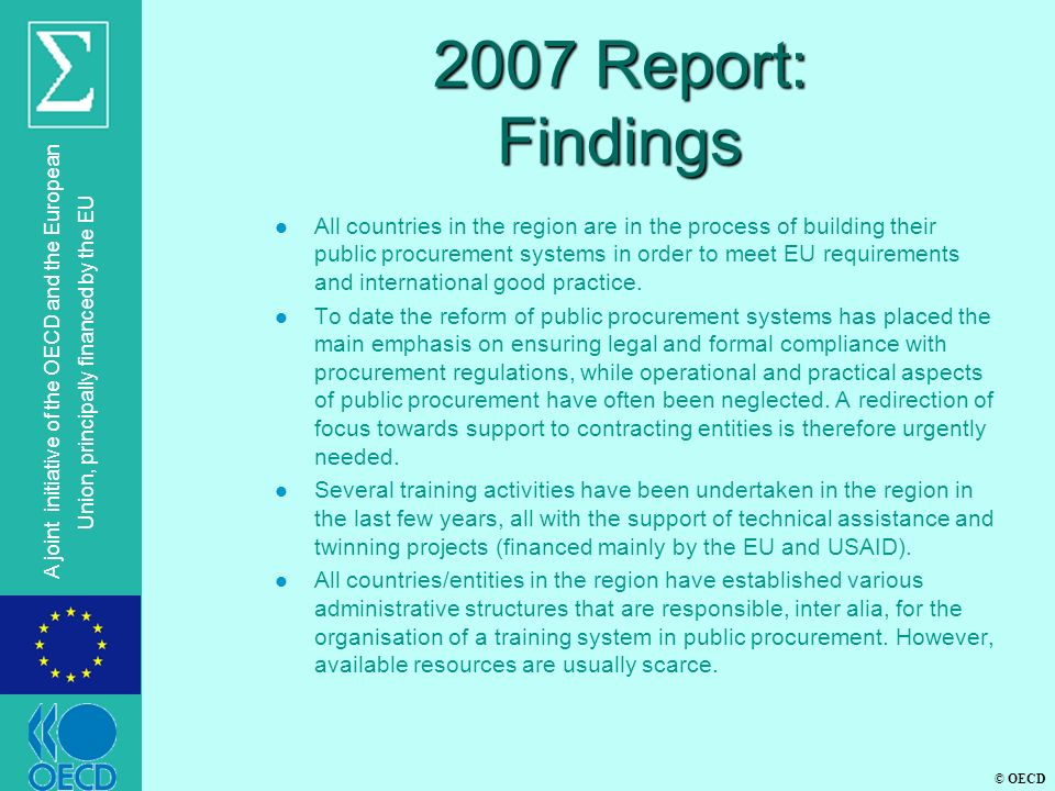 2007 Report: Findings