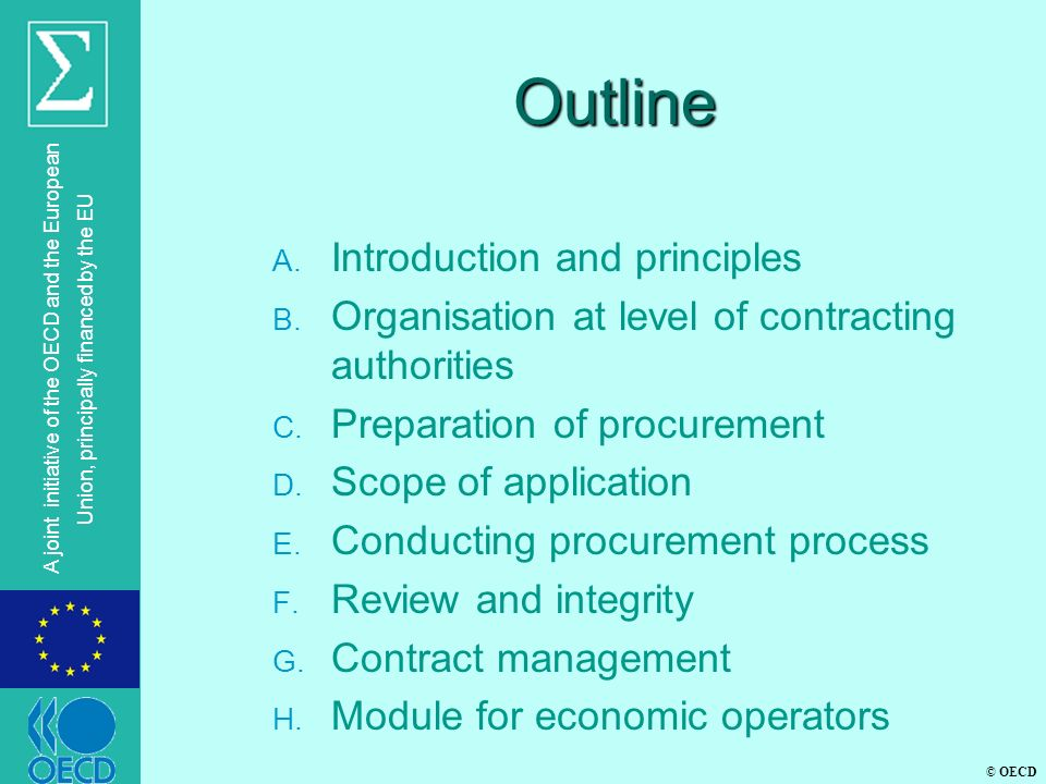 Outline Introduction and principles