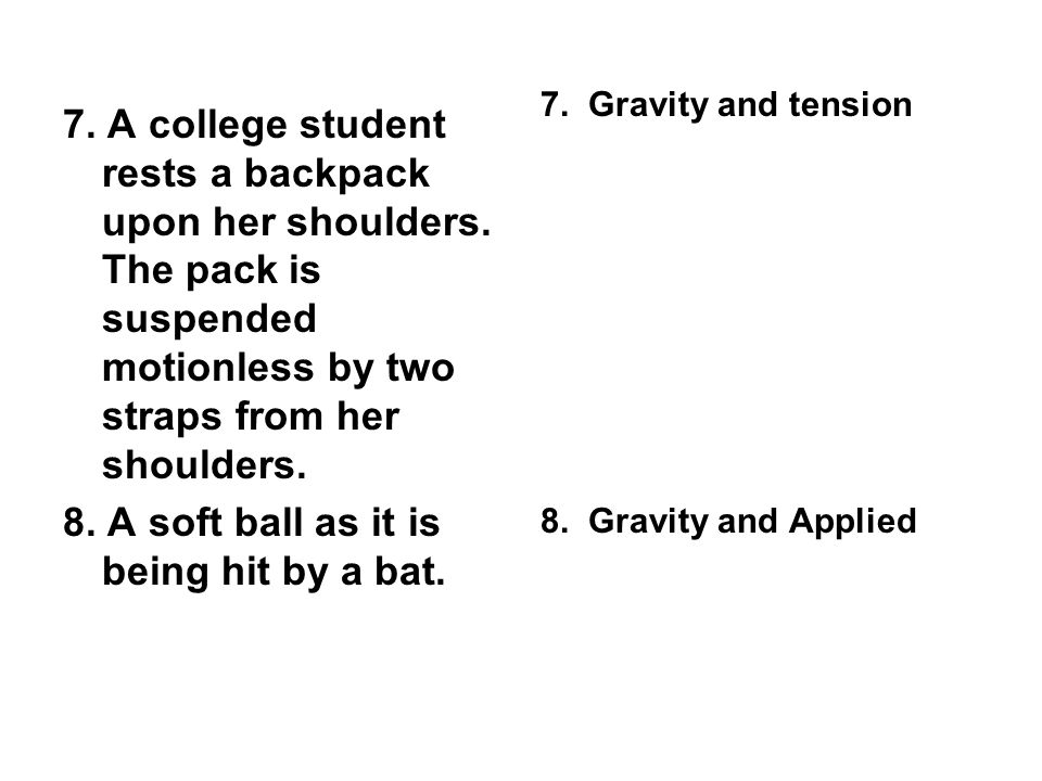 8. A soft ball as it is being hit by a bat.