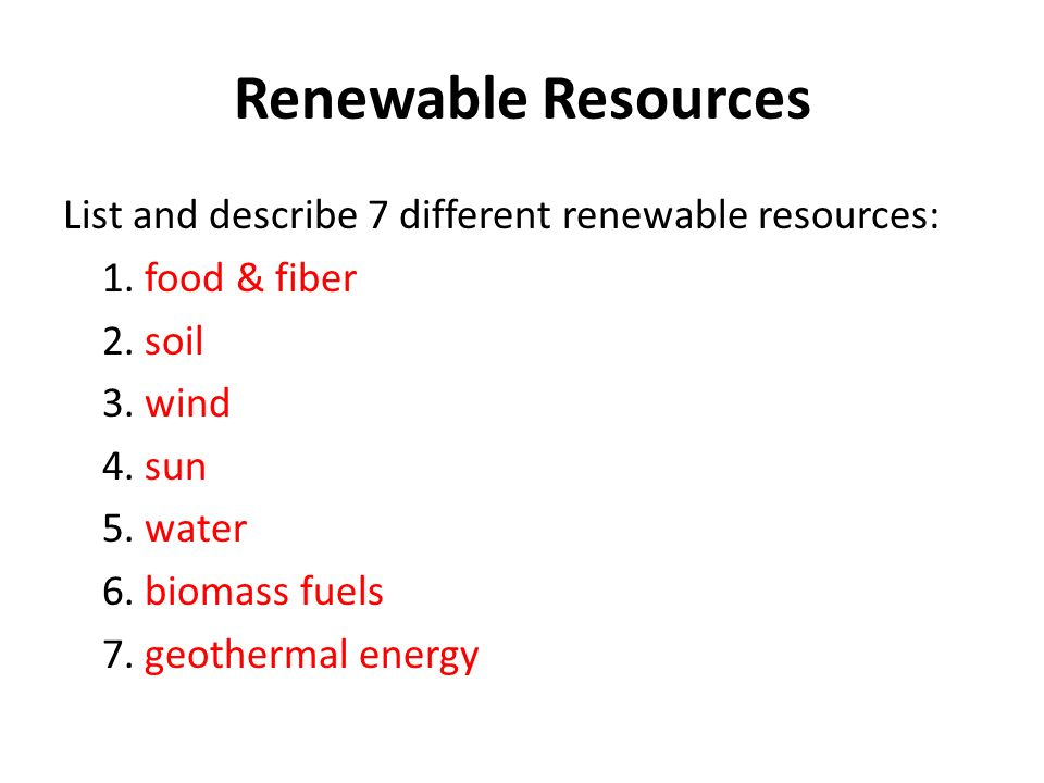 Ch 2 Renewable And Nonrenewable Resources