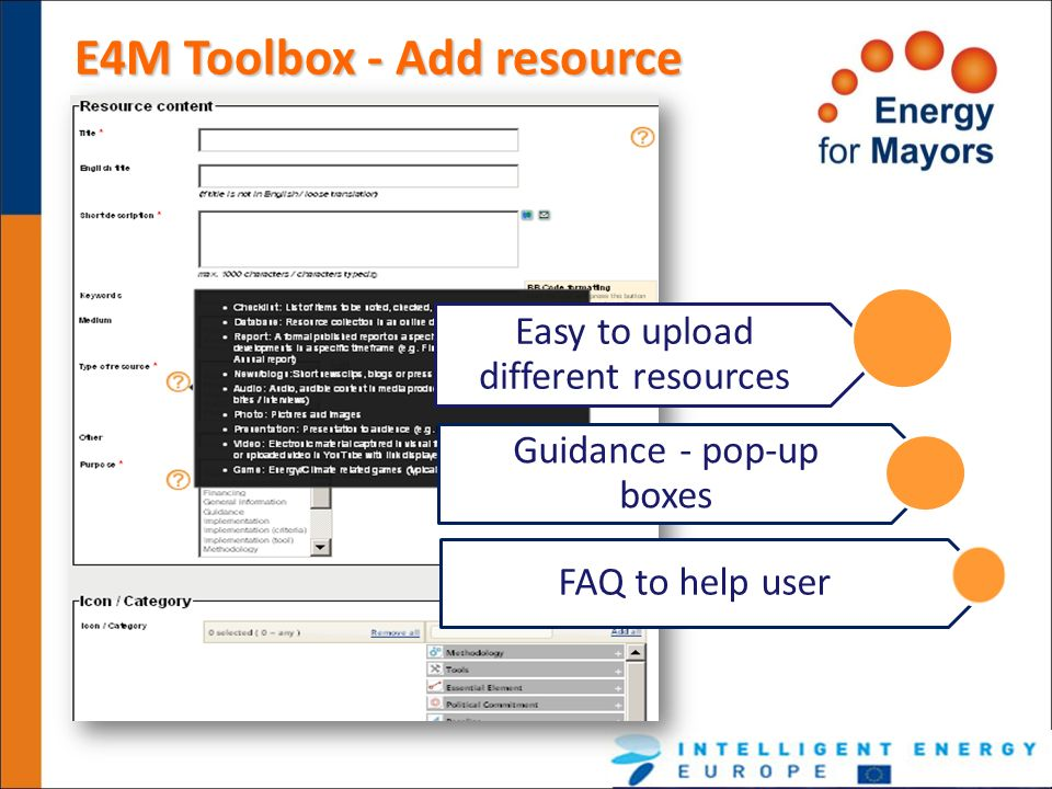 E4M Toolbox - Add resource