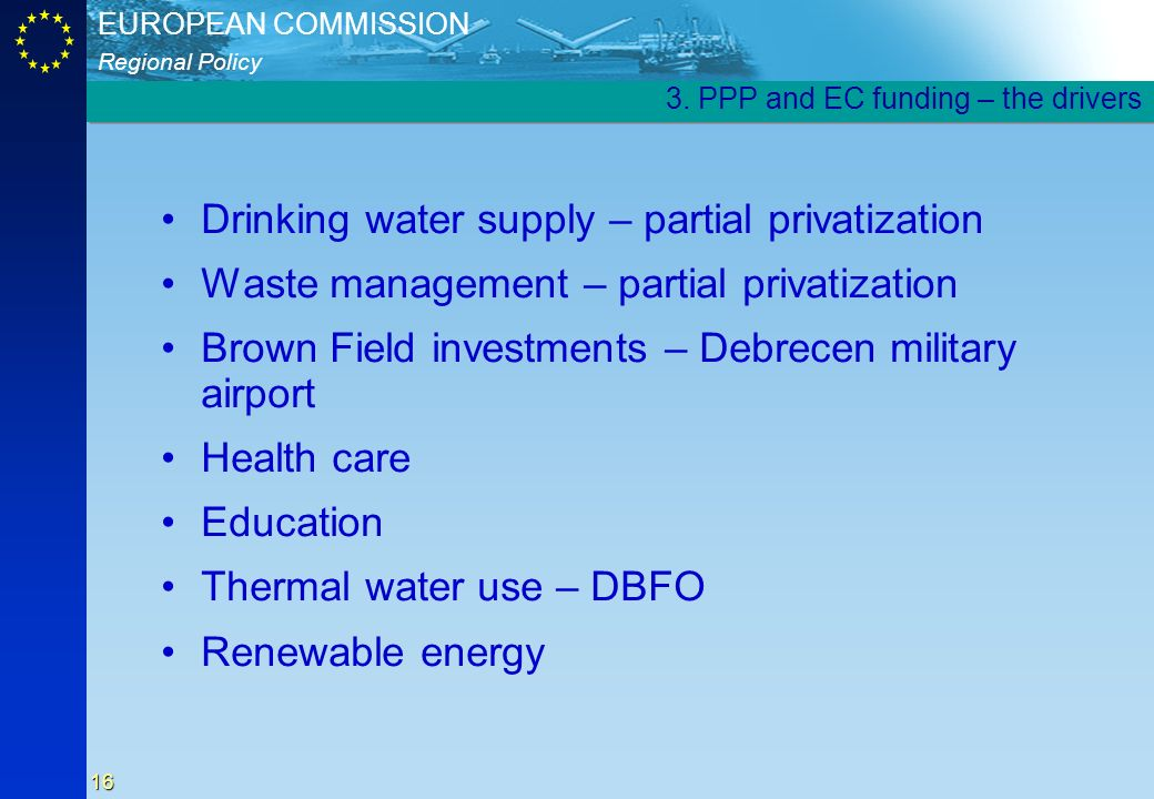 Drinking water supply – partial privatization