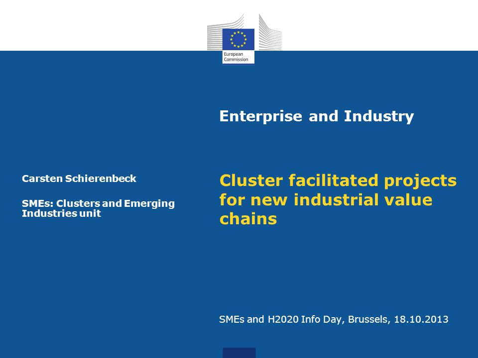 Carsten Schierenbeck SMEs: Clusters and Emerging Industries unit