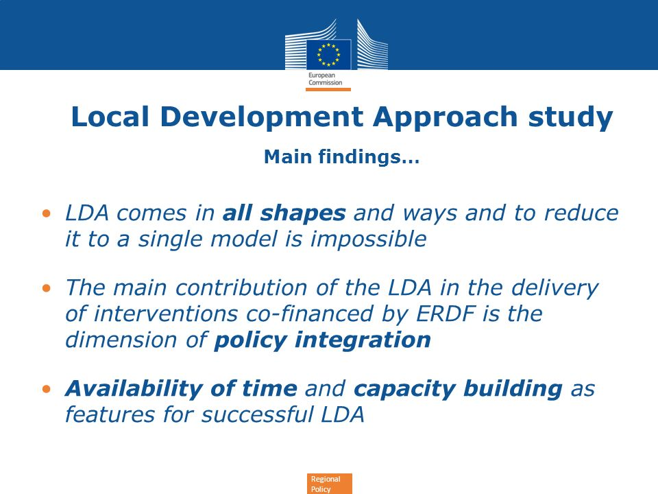 Local Development Approach study Main findings…