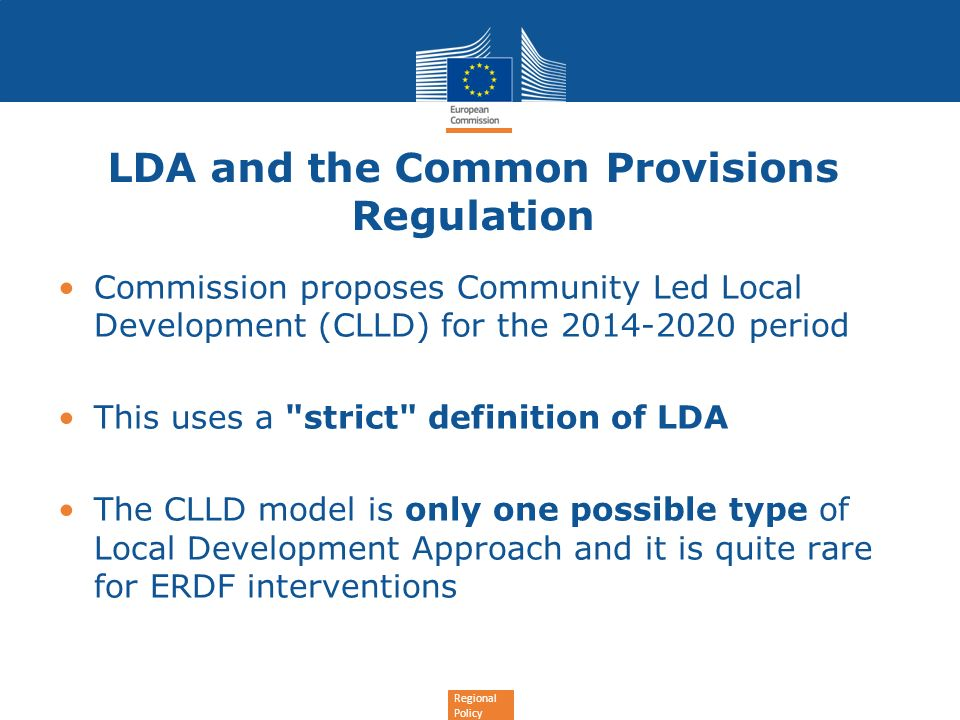 LDA and the Common Provisions Regulation