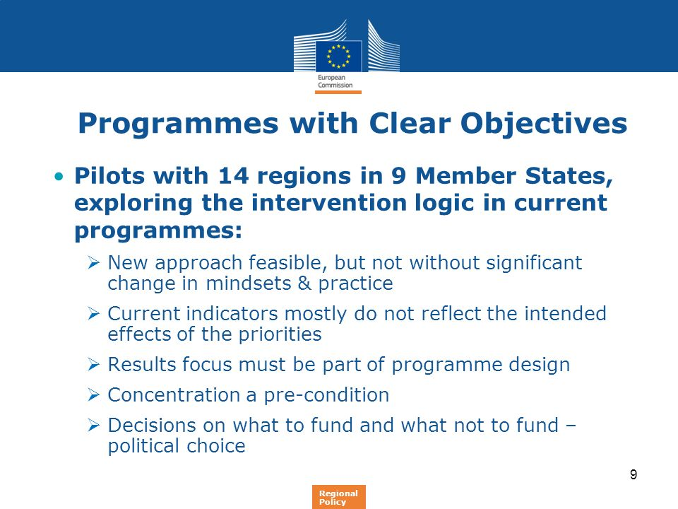 Programmes with Clear Objectives