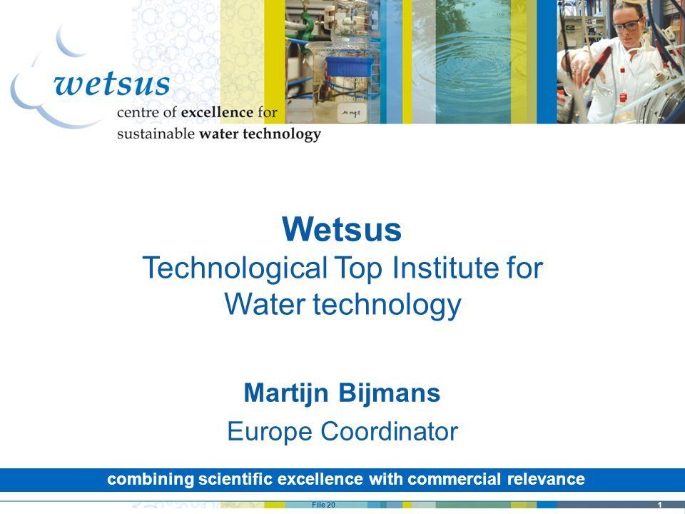 Wetsus Technological Top Institute for Water technology