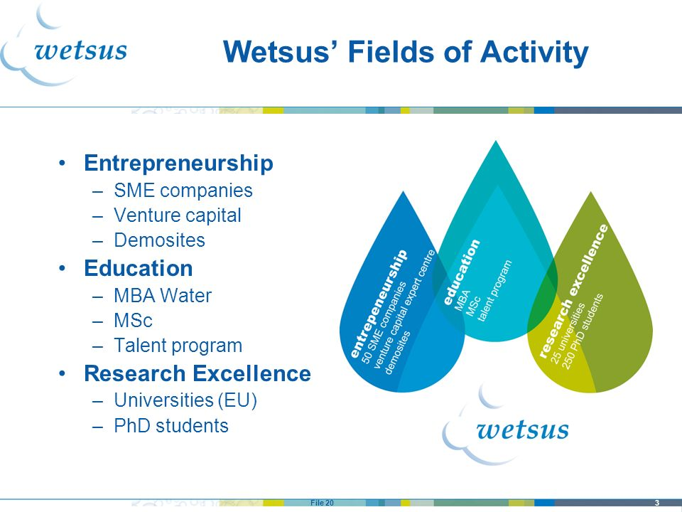 Wetsus' Fields of Activity
