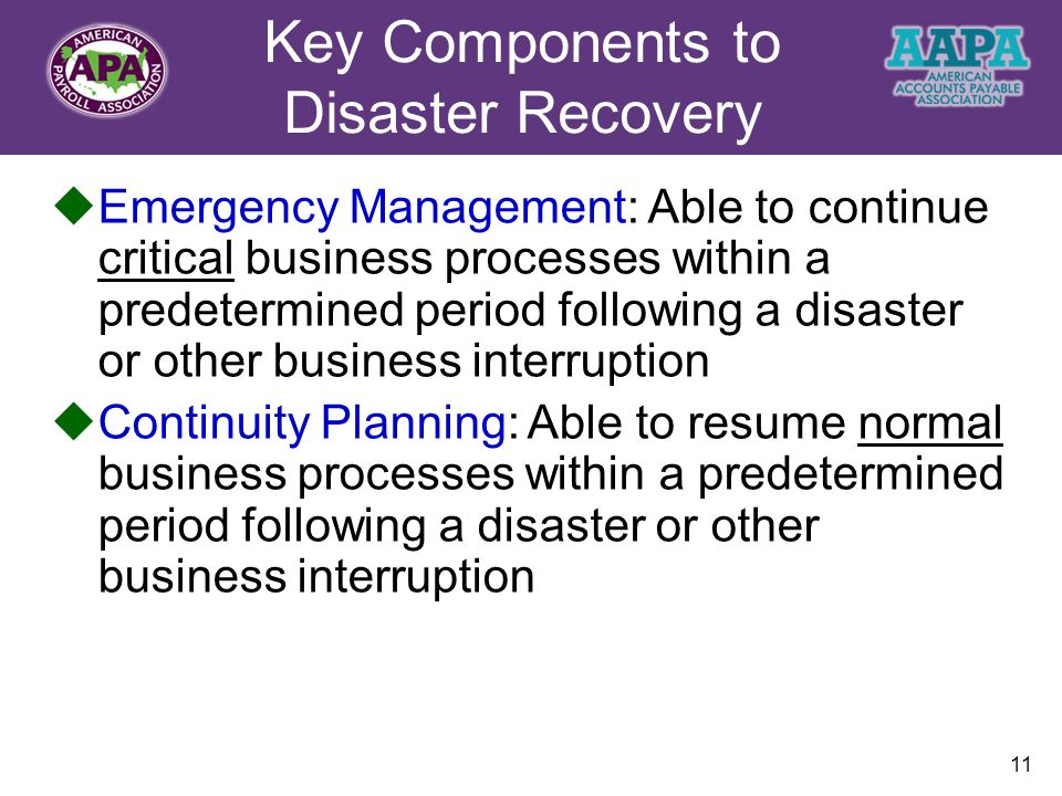 Disaster Recovery and Business Continuity Planning - ppt video ...