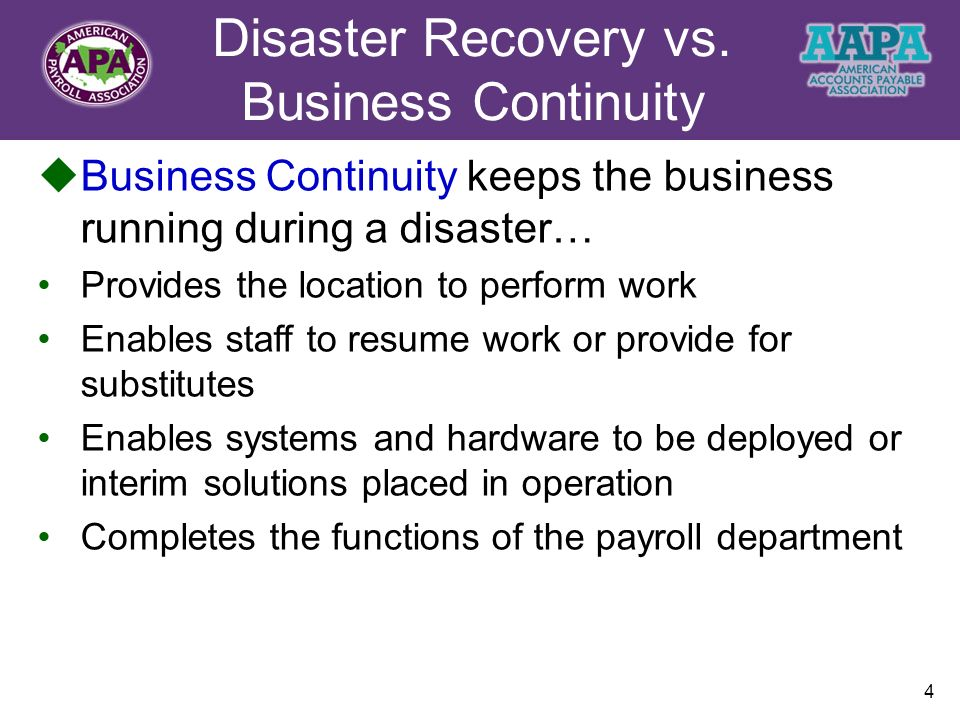 business continuity plan vs disaster recovery plan