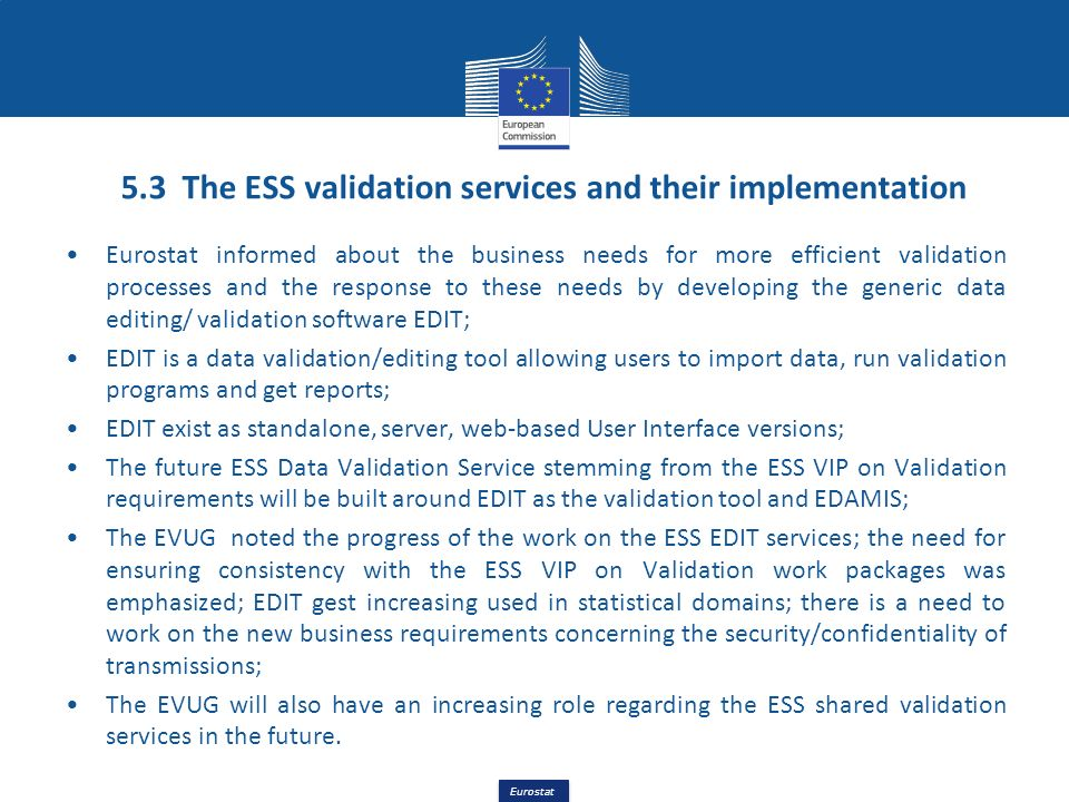 5.3 The ESS validation services and their implementation