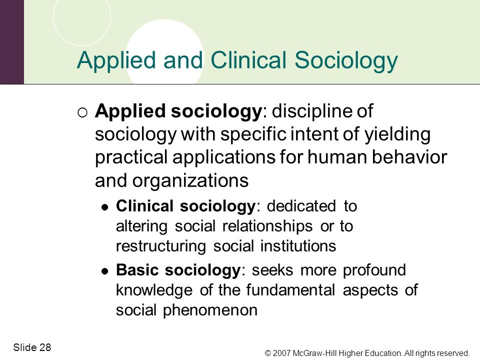 what is clinical sociology