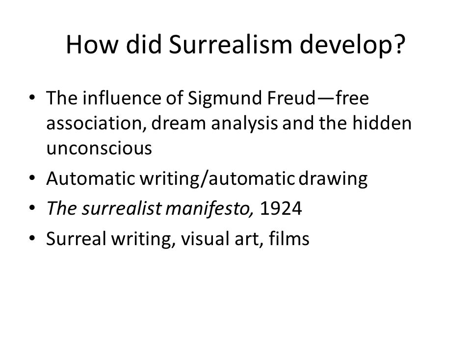 How did Surrealism develop