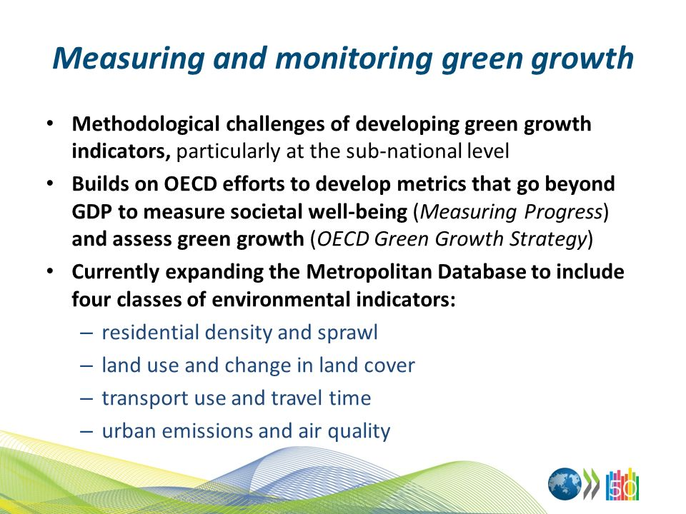 Measuring and monitoring green growth