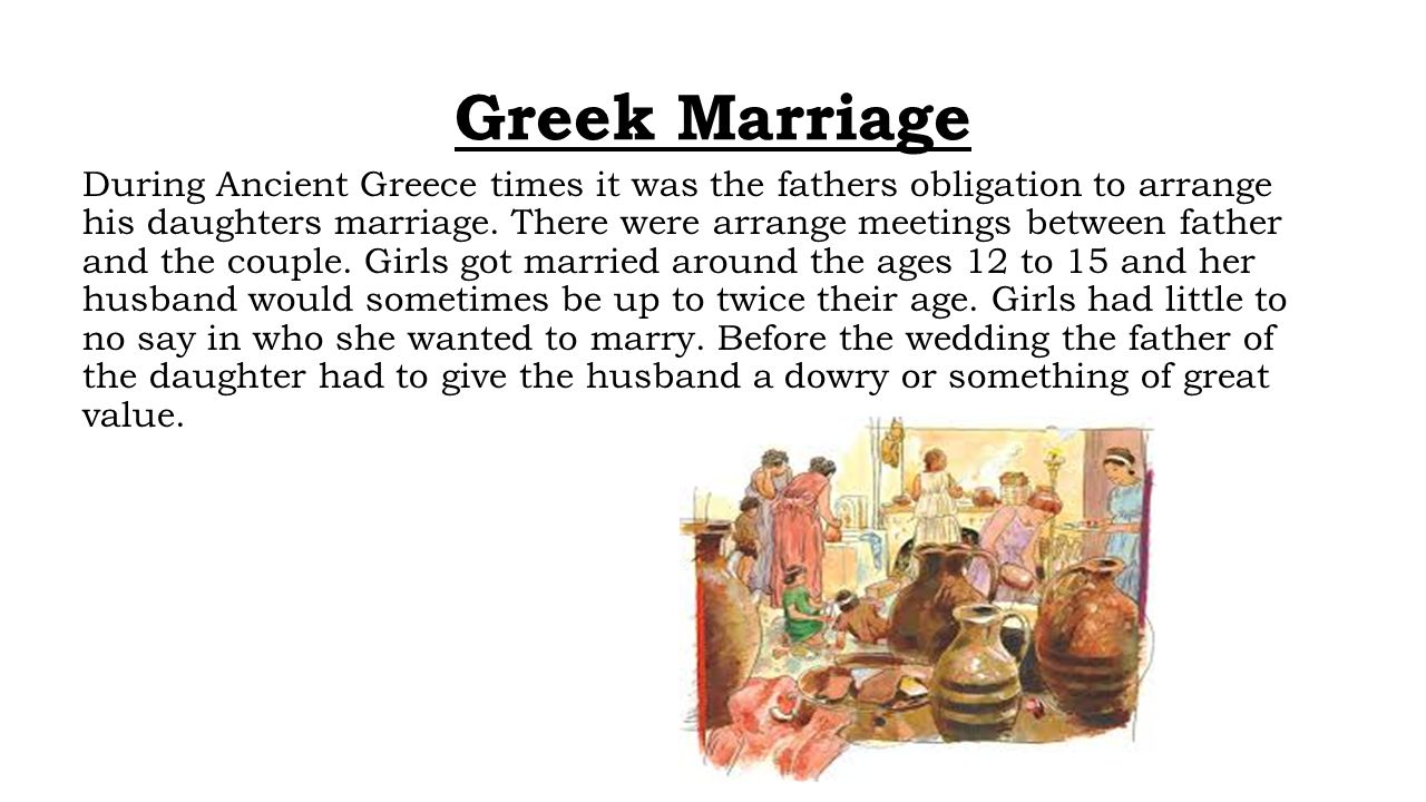 Ancient Greece Marriage, Life, and Adolescence - ppt video
